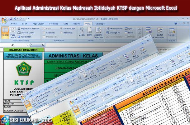 [.xls otomatis] Aplikasi Administrasi Kelas Madrasah Ibtidaiyah (MI) KTSP Terbaru menggunakan Microsoft Excel