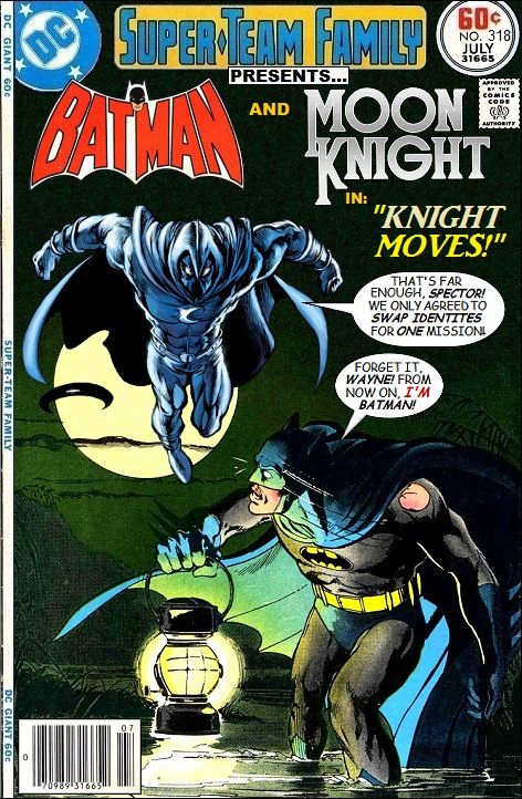 """Super-Team Family: The Lost Issues!: Batman and Moon Knight in """"Knight Moves"""""""