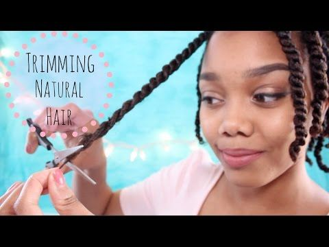 TRIMMING NATURAL HAIR | HOW I TRIM MY ENDS - YouTube