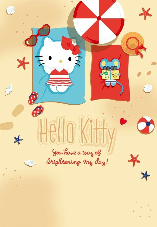 Relaxing At The Beach Melody Hello Kitty Hello Kitty Colouring Pages Hello Kitty Coloring