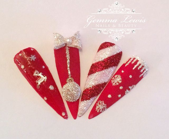 Christmas Nails by GemLew31