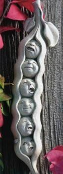 """Cast Stone SWEET PEA SEXTUPLETS Food VEGETABLE Face PLAQUE Sculpture by GEORGE Carruth Studio by eEarthExchange. $36.95. PURCHASE by 12/15 for CHRISTMAS DELIVERY!* 2"""" x 10.5"""" x 1.5"""". MADE in the USA, Cast Concrete - No Resin. PURCHASE by 12/15 for CHRISTMAS DELIVERY!*"""