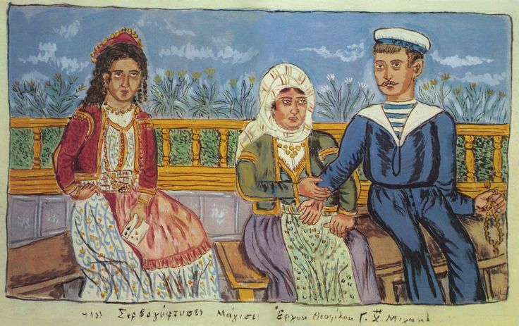 Ο Θεόφιλος Χατζημιχαήλ ή Θεόφιλος Κεφαλάς ή Κεφάλας, όπως ήταν το πραγματικό του όνομα (Βαρειά Μυτιλήνης, 1870; – Βαρειά Μυτιλήνης, 24 Μαρτίου; 1934), γνωστός απλά και ως Θεόφιλος, ήταν μείζων λαϊκός ζωγράφος της νεοελληνικής τέχνης. Κυρίαρχο στοιχείο του έργου του είναι η ελληνικότητά του και η εικονογράφηση της ελληνικής λαϊκής παράδοσης και ιστορίας.