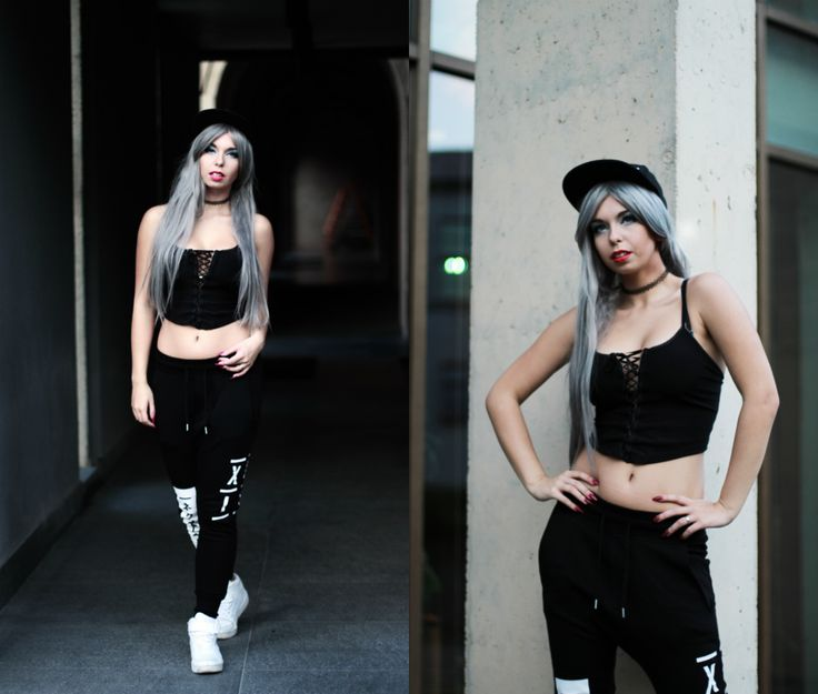 scandalouslyshe.eu Check me out on lookbook as well: http://lookbook.nu/milenacorleone #street #city #swag #look #hm #wig #lushwigs #greyhair #style #outfit #sporty #sexy #sensual #exercise #fashion #top #blogger #model