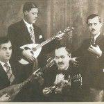 The Legendary Quartet of Piraeus. Markos Vamvakaris, Yorgos Batis, Stratos Payoumtzis and Anestis Delias.