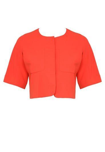 Veste courte femme orange