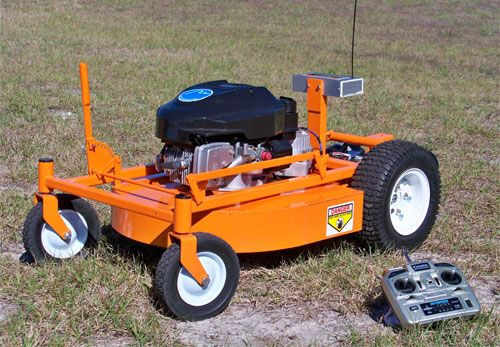 Remote Controlled Lawnmower..