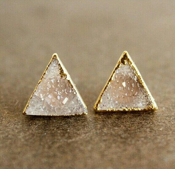 Pinterest||EmmCornett . . .  .  . . .  #accessories #triangle #earrings