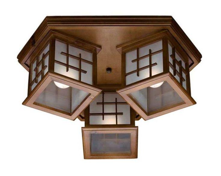 Потолочные деревянные светильники в интерьере