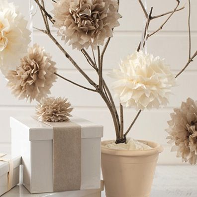 Easy Tissue Paper Pom Poms To decorate or to use on gifts as an interesting alternative to a bow...