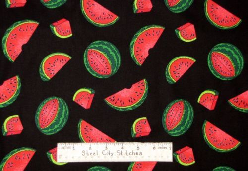 Watermelon-Fruit-Slice-Fabric-100-Cotton-26-Length-Timeless-Treasures