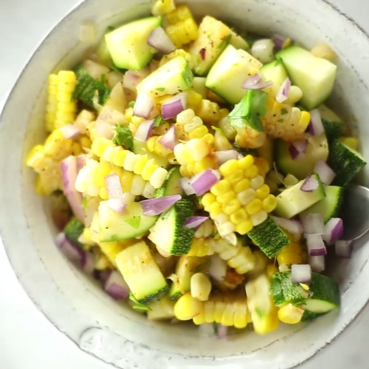 How to make Zucchini And Corn Succotash.