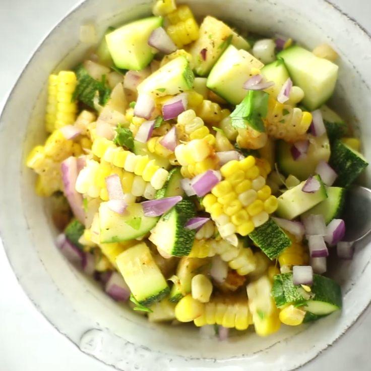 How to make Zucchini And Corn Succotash.