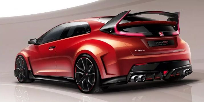 #Honda #Civic #Type-R Concept to be released at #Geneva Auto Show utilizing new racing-bred 2.0L turbo engine with bold styling.