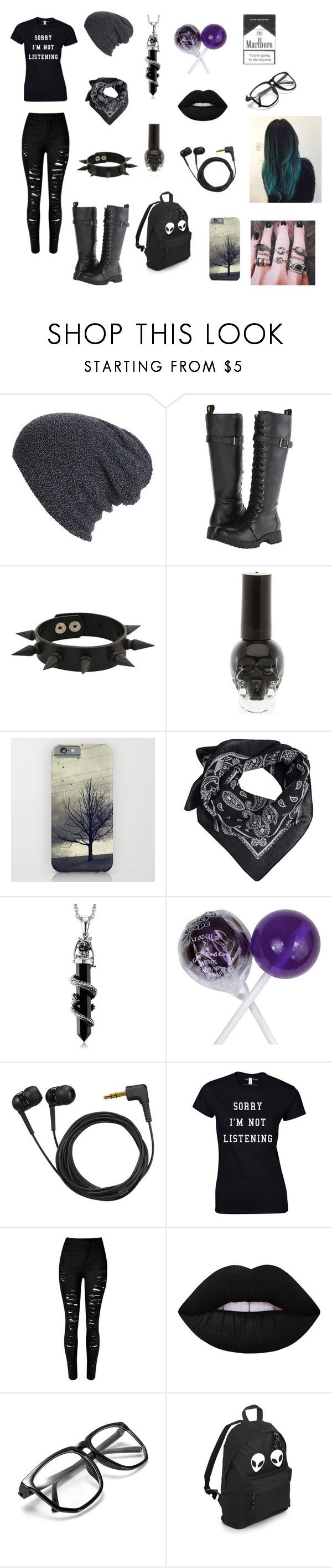 """""""I will love you soon, but not now"""" by ja-ja-ja ❤ liked on Polyvore featuring WithChic, Volatile, Forever 21, Hot Topic, MANGO, Shop Dixi, Sennheiser and Lime Crime"""