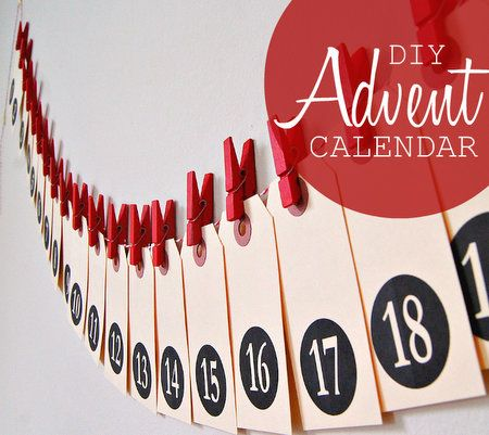 24 DIY Advent Calendars for kids (from mega-easy to more elaborate)