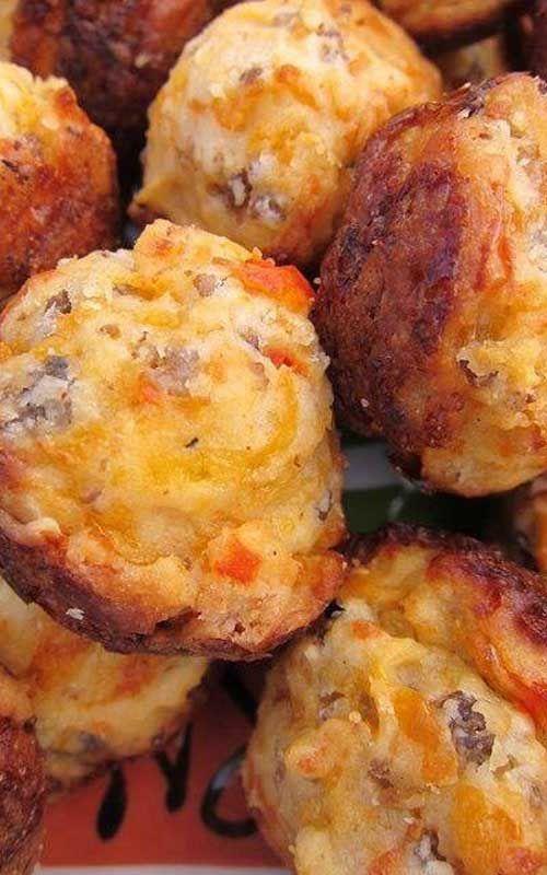 Cream Cheese Stuffed Sausage Balls