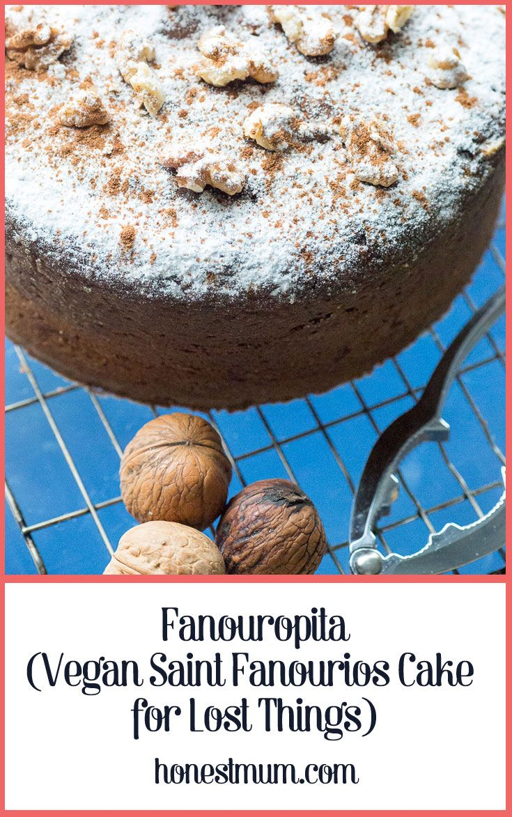 Fanouropita (Vegan Saint Fanourios Cake for Lost Things)
