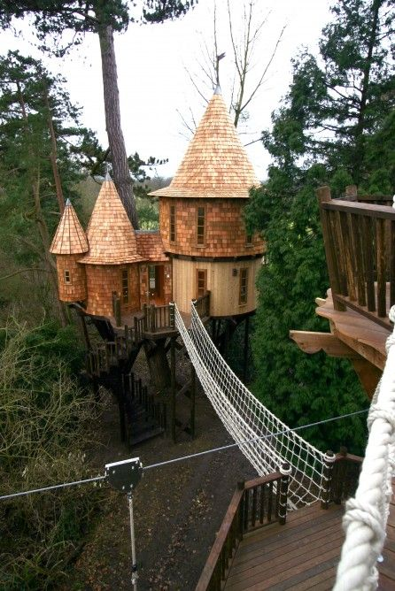 amazing treehouse castle for grownups