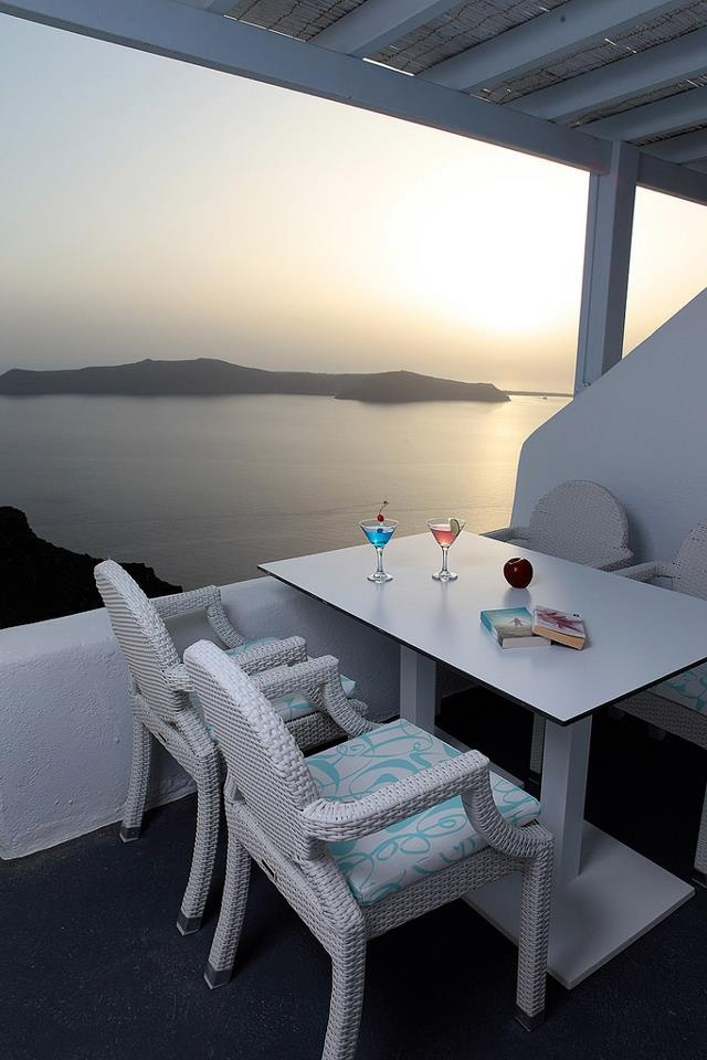 How about a cool cocktail along with this view from the privacy of your suite?! You are always welcome at Astra suites in Santorini!