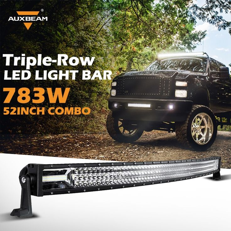 193.50$  Watch now - http://ali4sy.worldwells.pw/go.php?t=32739489108 - Auxbeam 52inch Curved 783W 3-Row Cree Led Chips Work Light Bar Offroad Driving Headlight for Car SUV 4WD 2WD Truck Combo Led Bar