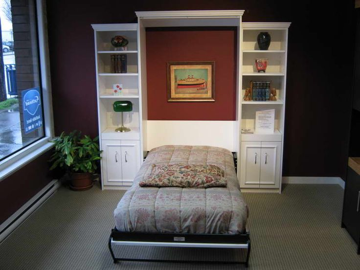 Bed Desk Ikea Hacker Murphy Wall Bed With Dark Brown