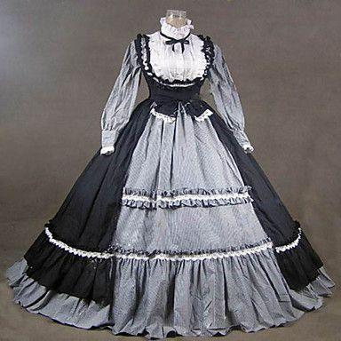 steampunk®19th århundre viktoriansk gotisk lolita kjole kjole renessanse faire klær 2016 – kr.1.121