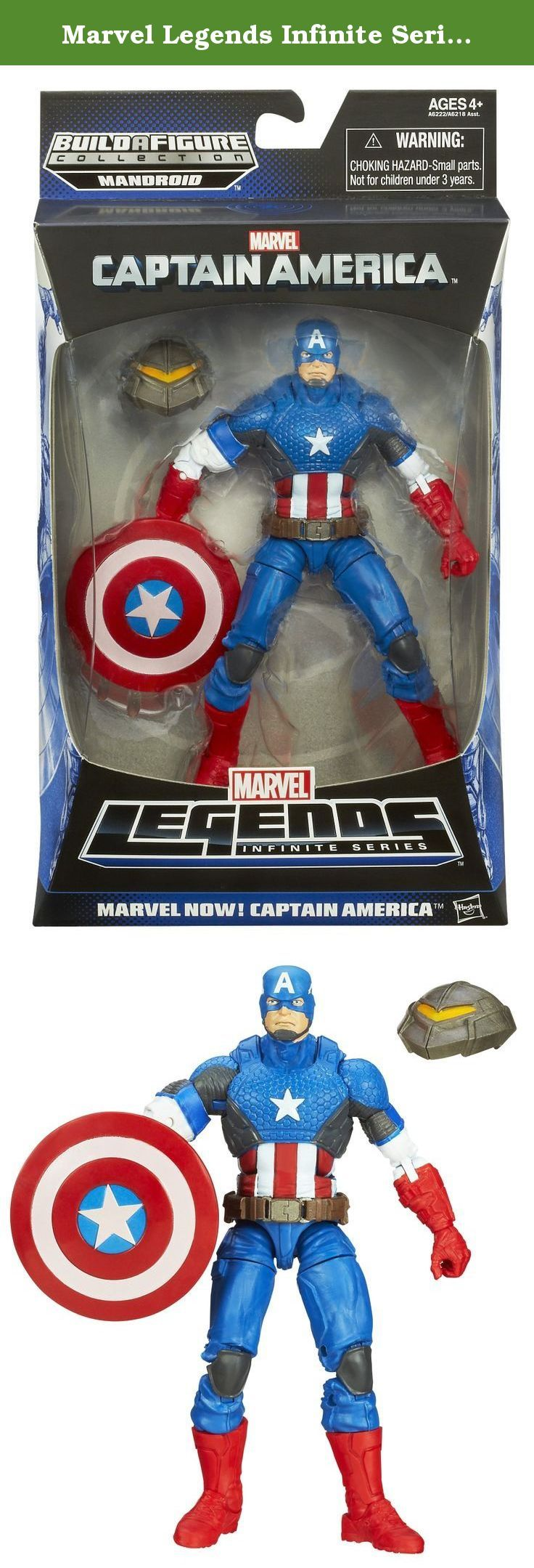 Marvel Legends Infinite Series - Marvel Now 15 Cm Captain America Figure. no matter how often arnim zola's twisted creations beat him down, steve rogers will always stand up! this isn't just any captain america figure! he looks like the patriotic super-soldier, and he defends justice with his vibranium shield. but he also comes with a head that you can use to build a menacing mandroid figure! collect all the parts (other figures sold separately) to complete the armored droid, then send…