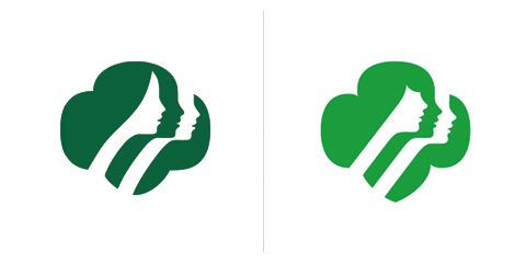 Saul Bass logo Girl scouts 1978 - That's it, bangs?!