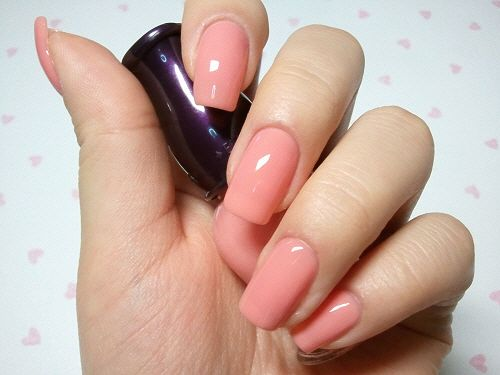 ETUDE HOUSE tangerine pink nail color #nails #beauty