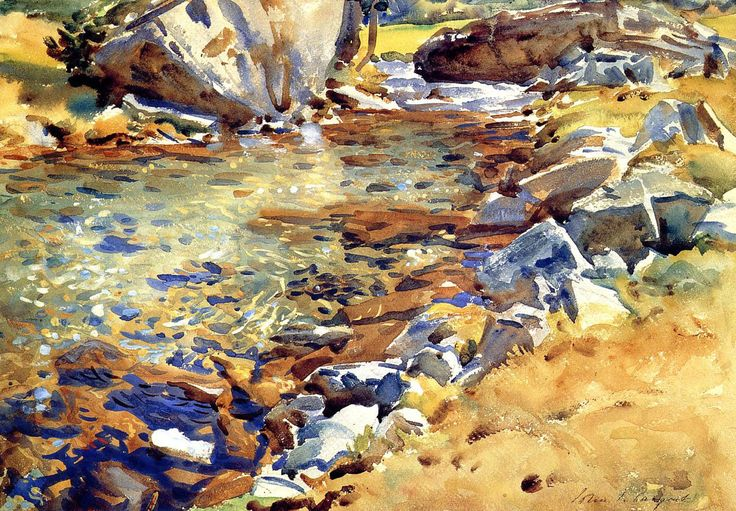 Brook Among Rocks