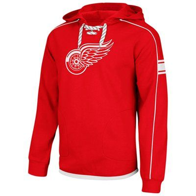 Reebok Detroit Red Wings Faceoff Team Jersey Pullover Hoodie - Red