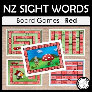 NZ sight words - Red - BOARD GAMES A set of 5 colourful and engaging board games for your students to practise their sight words at the Red level. Sight words are read when the player lands in that square. Some games have an endpoint (where players reach the 'finish') and some games are ongoing until the allocated time is up, or