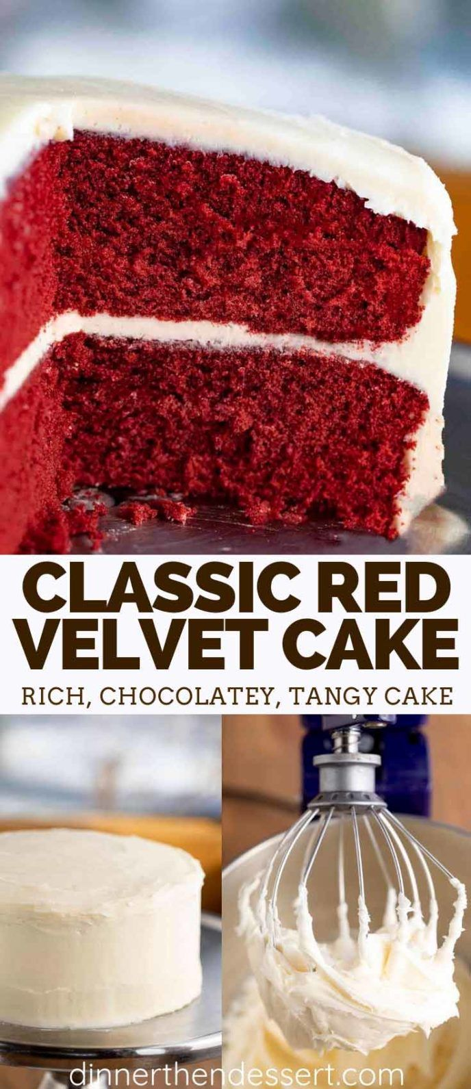 Red Velvet Cake Is Unbelievably Moist And Fluffy Made With Cocoa Powder Buttercream And Sour Cream Ready In Red Velvet Cake Velvet Cake Sour Cream Recipes