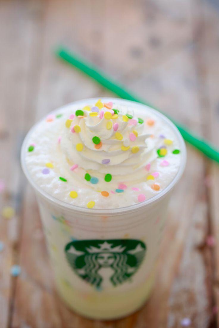 Starbucks Birthday Cake Frappuccino - Want to save your money and your waistline? make homemade Starbucks Frappucinos!!!