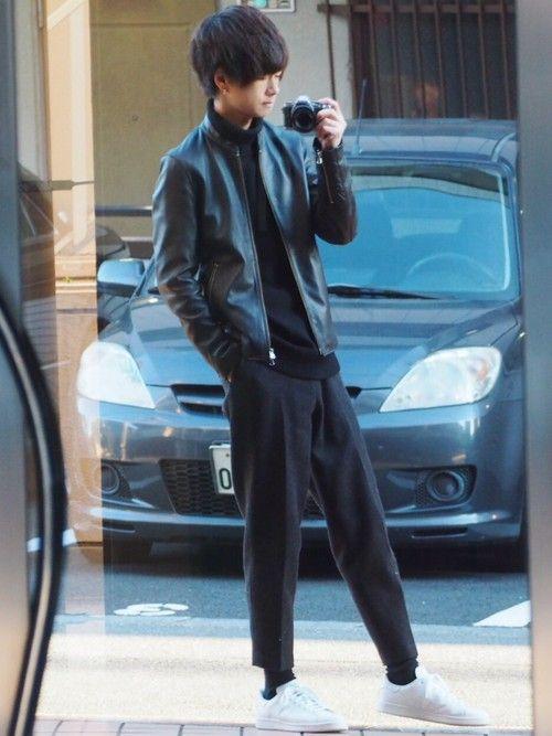 ライダース🌎✨ スタンスミスもパンツも黒靴下もライダースもすっごく良い感じ🌎💫 《サイズ》