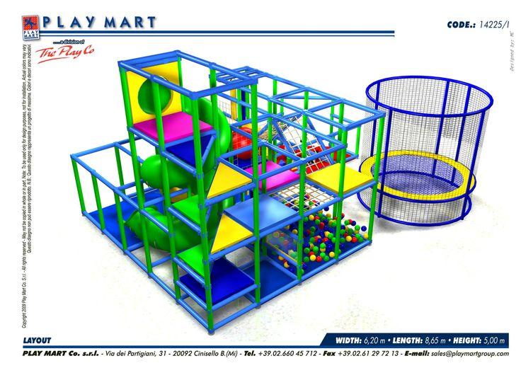 Play Mart - struttura di gioco in ottimo stato; capienza ca. 50-60 bambini; possibilità di ampliamento; fornita con area 0-2 anni e con trampolino elastico diamtro ca. 3 mt. - POSSIBILITA' DI NOLEGGIO