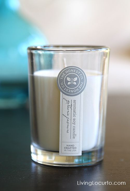 The Honest Company Soy Candle + a  $50 Gift Certificate Giveaway! Limited time only at LivingLocurto.com #Giveaway Ends 11/28/2013