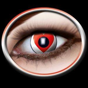 Romantisk kontaktlinse med rødt hjerte motiv. Er du i det romantiske hjørne kan denne kontaktlinse med et hjerte være en sjov ide. Røde hjerter på kontaktlinserne, flot og romantisk. Overask din kæreste på vallentin dag med disse hjerte kontaktlinser. #vallentinsday #vallentin #romantisk #kontaktlinser