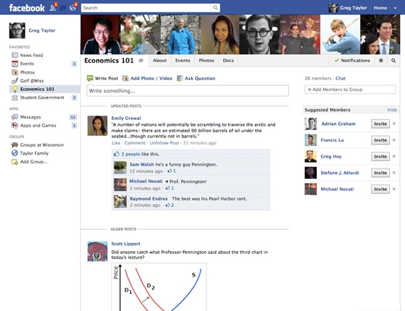 """Facebook Allows File Sharing With Rollout Of .Edu-Exclusive """"Groups For Schools"""""""