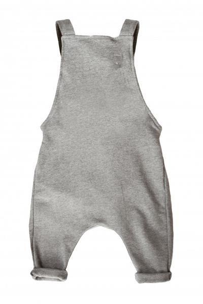Gray Label Salopette Jumpsuit - Grey Melange - Le Petit Organic - 1