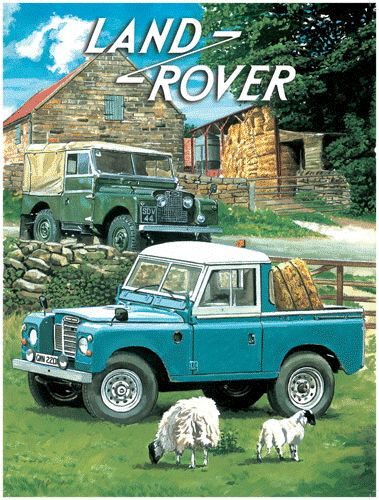 Vintage Land Rover ad ~ available through Brilliantly British Signs.