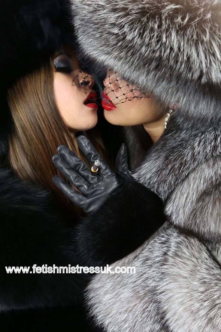 Girl/Girl Red Lipsticks, Smothered in Fox Fur's.. www.fetishmistressuk.com