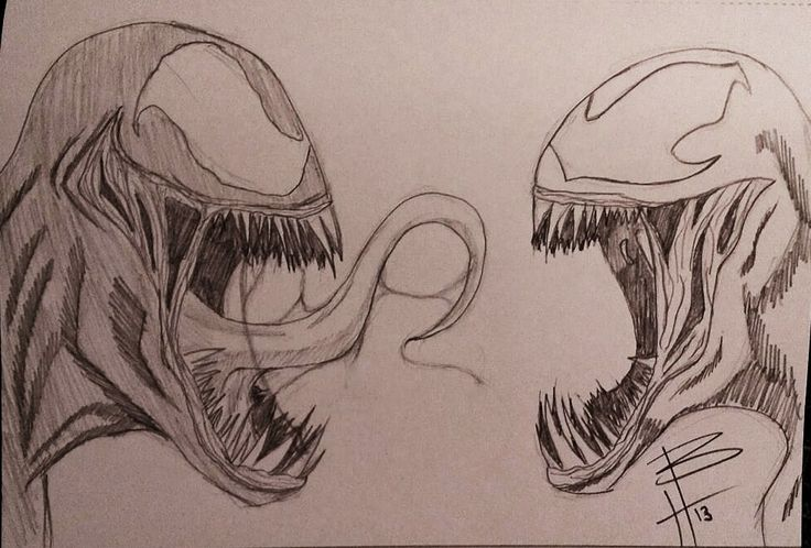 Gallery For gt How To Draw Carnage Vs Venom