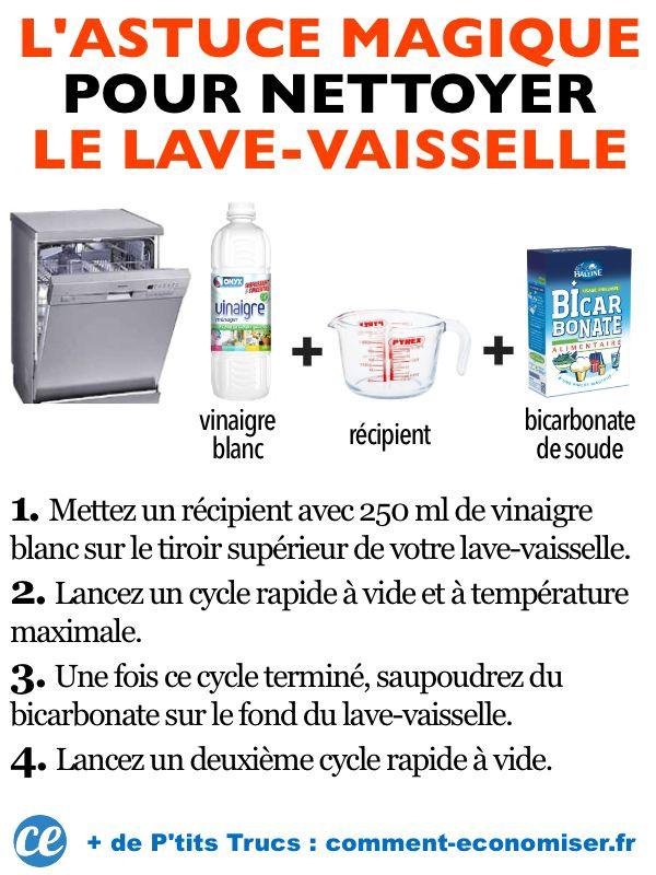 Lave Vaisselle Tres Sale L Astuce Magique Pour Le Nettoyer Sans