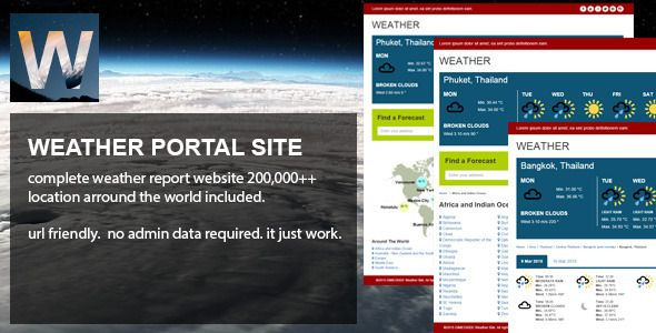 Weather Portal is an  application which engage the user IP Geolocation, crawler weather