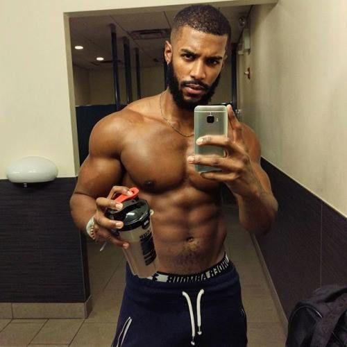 group nude black men