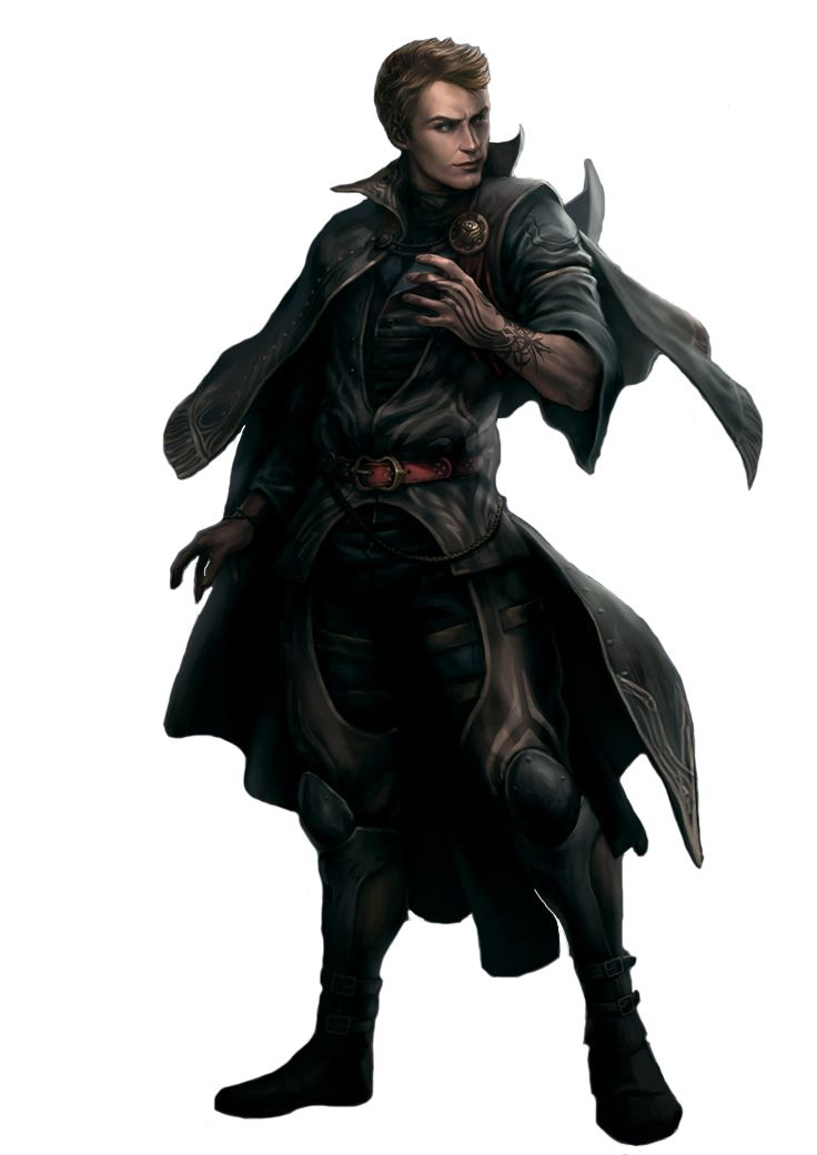 Thief, assassin, dark spell, rpg, npc, concept art, character, tattoo
