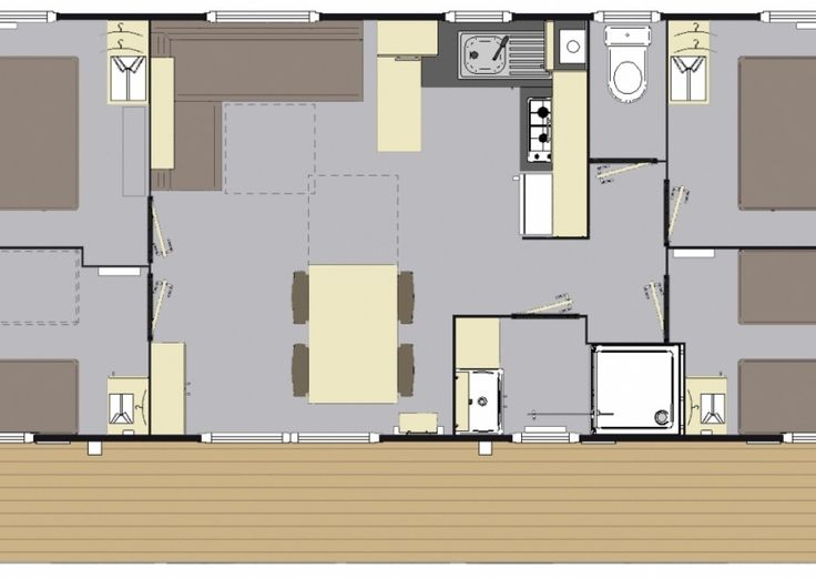 Mobil-Home XXL - 8/10 personnes - Camping Palmyre Loisirs