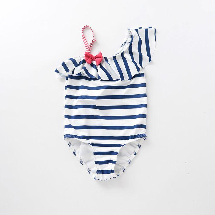 Aliexpress.com: Comprar Ccsme DHL niñas niños de una sola pieza azul marino raya bebés del traje de baño de traje de baño de encubrimiento fiable proveedores en Miss Girls-- Factory Children Clothes Wholesale
